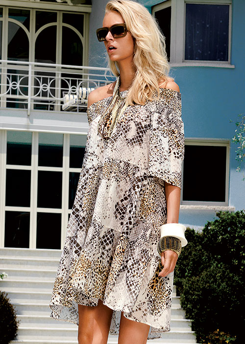 Snakeskin Sun Dress