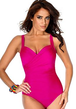 Miraclesuit Must Haves Sanibel Hot Pink Swimsuit