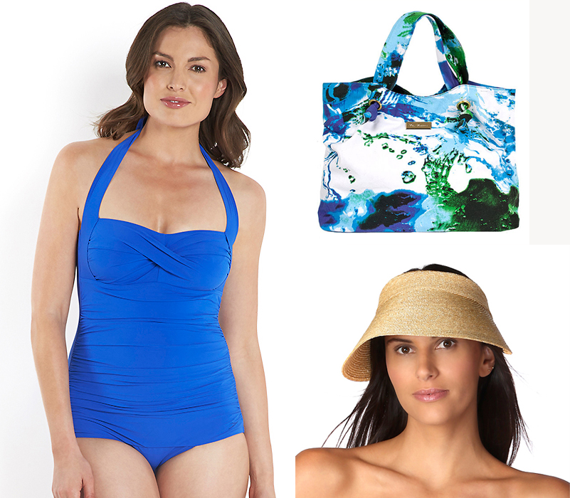 Speedo Sculpture Crystalsun Swimsuit + bag + Visor