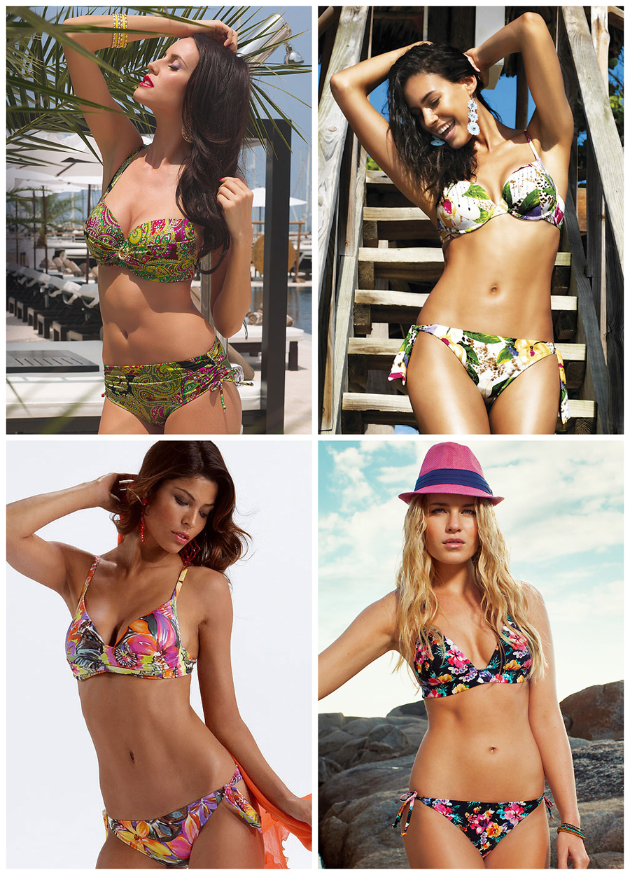 Rectangular body shape swimwear - bottom tie
