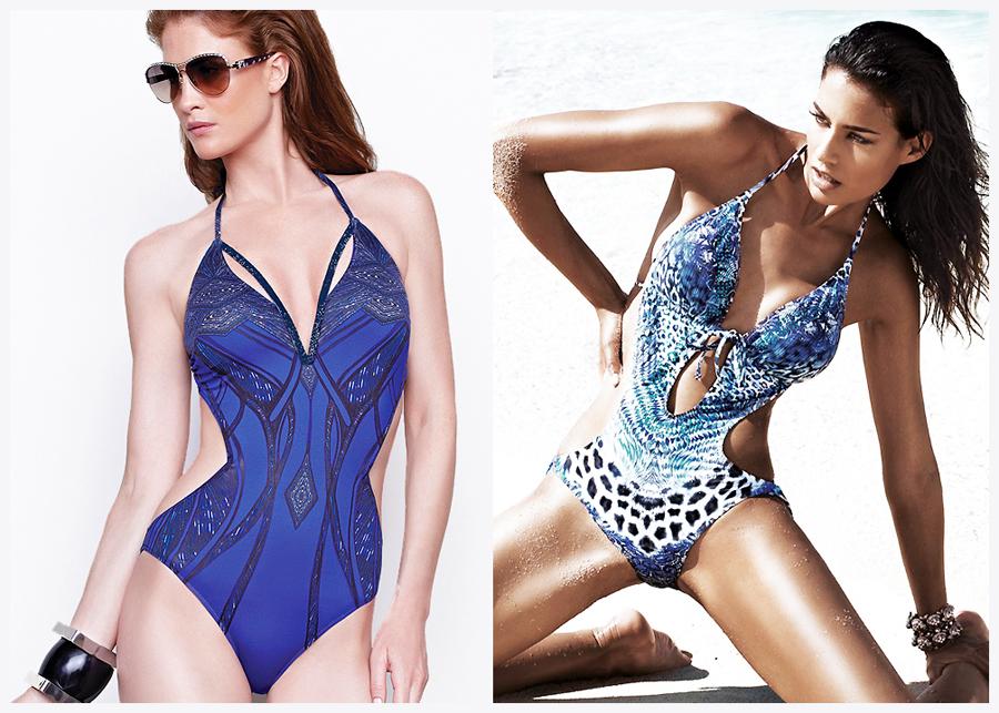 Rectangular body shape swimwear - cut outs