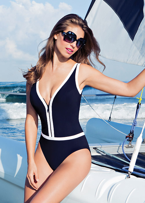 Gottex Profile Zip It Up Swimsuit sea