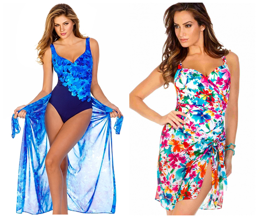 MIRACLESUIT FLORAL PAREOS