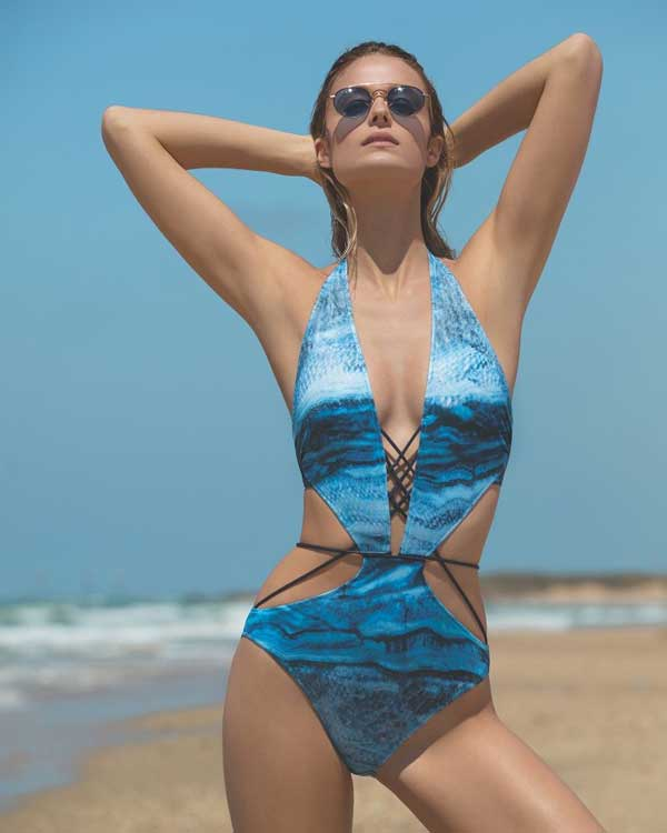 Gottex Couture 2018 Plunge Cut Out Swimsuit
