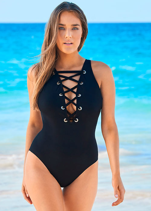 Amoressa The Ramones Stevie Swimsuit black