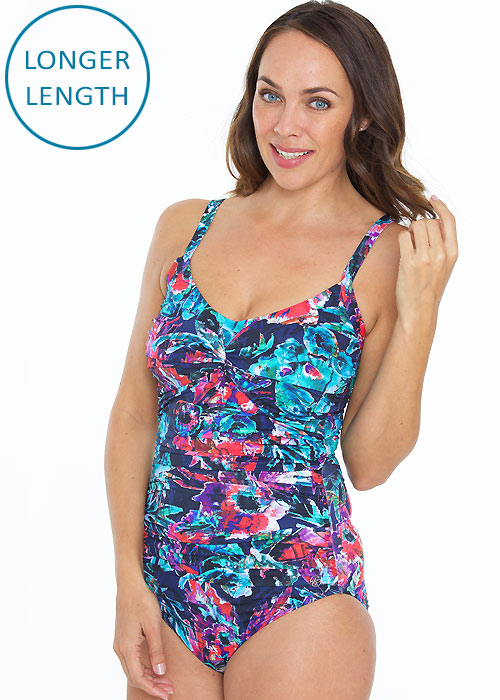 Seaspray Alina Draped High Back Swimsuit