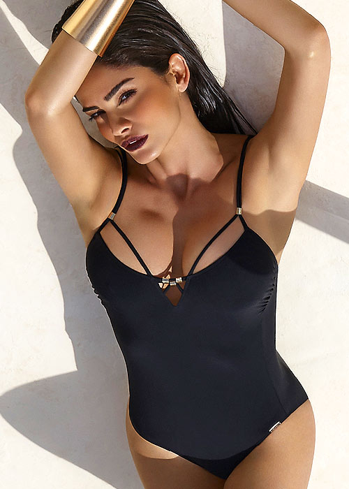 Maryan Mehlhorn Glam Black Swimsuit front