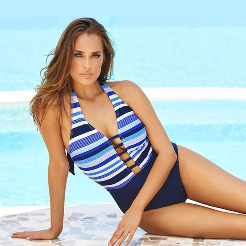 Amoressa-swimwear-striped-swimsuit-sq