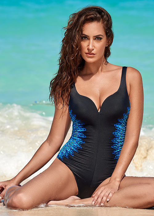 Miraclesuit heart shaped neckline swimsuit