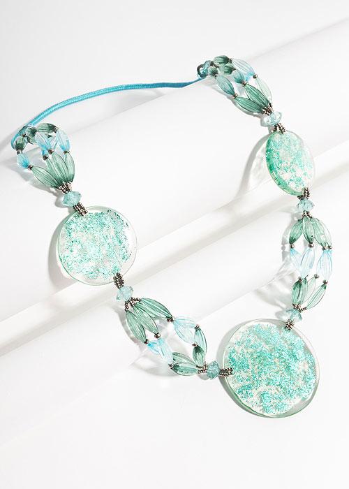 Turquoise Pia Rossini neckline