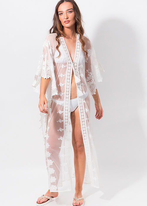 Pia Rossini White Beach Cover Up