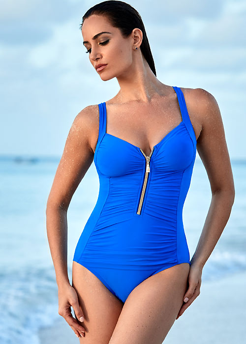 Miraclesuit Front Zip Detail Swimsuit