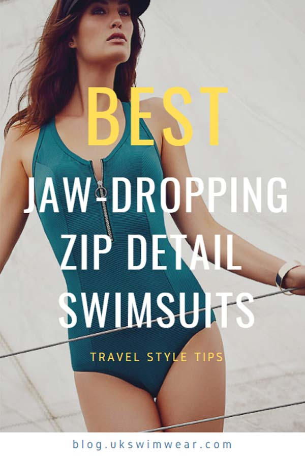 Best zip detail swimsuits pin