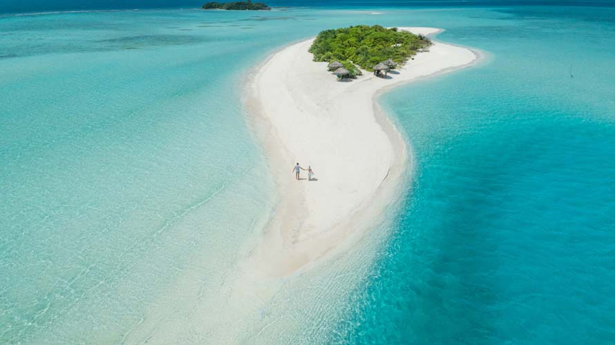Atoll in Maldives, one of the most perfect 2019 beach destinations for couples