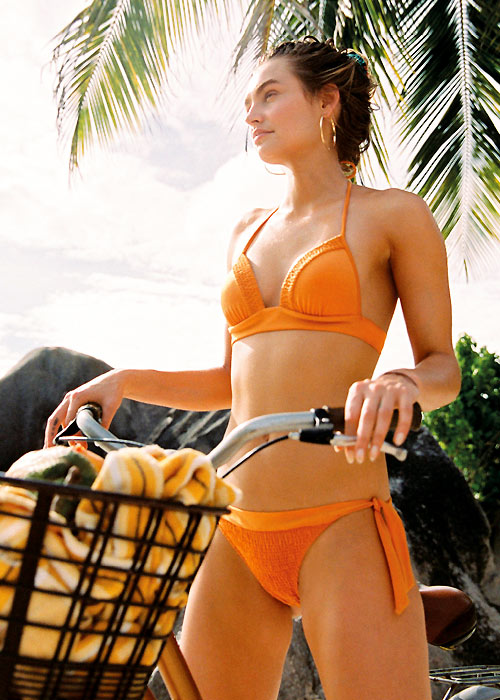 Watercult orange triangle bikini