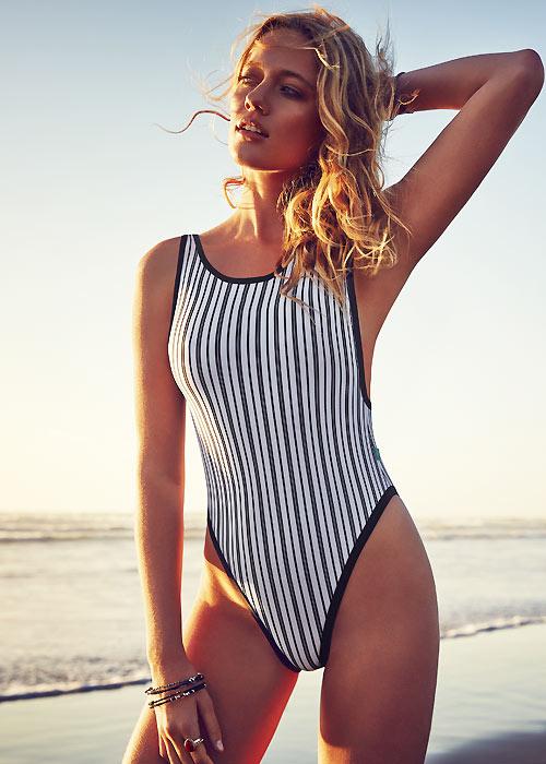 Piha Stripes swimsuit