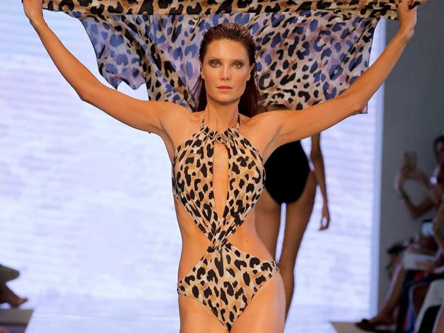 Gottex 2020 animal printed swimsuit, featured Miami Swim Week