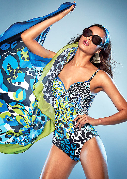 Roidal Sirgana leopard print swimsuit